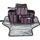D-Jeesian Diaper Luxe Pad et Poussette Organizer Bag Kit de rangement supplémentaire,Station Changing Portable, Universal pourpre