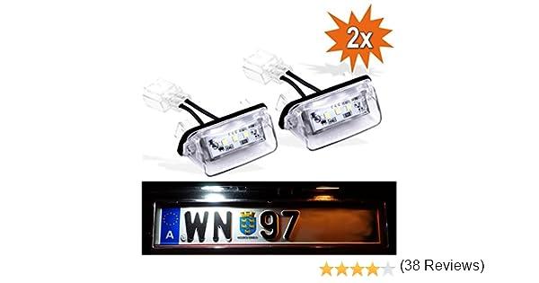 Do.LED P206/LED luci della targa di immatricolazione con marchio di controllo E Effetto Xenon Luce targa luce targa Targa Lampada