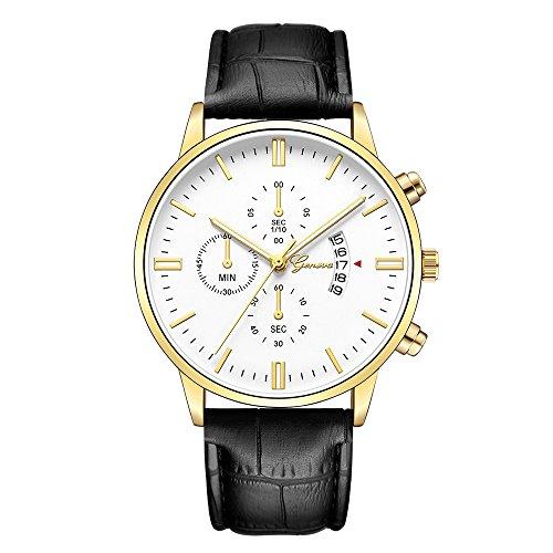 YEARNLY Herren Damen Uhren Männer Sport Chronograph Schwarz Edelstahl Armbanduhr Luxus Design Business Datum Kalender Modisch Analog Quarzuhr