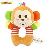 Baby Spielzeug Stoffspielzeug Kleinkind Rasseln Süße Tiere Bells Stroller Hanging Trainning ab 0 Monate Geschenk,Affe