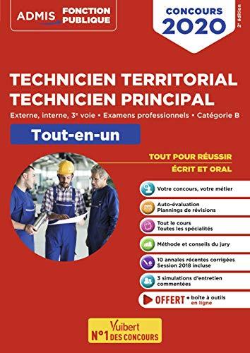 Concours Technicien territorial - Technicien principal - Catégorie B - Tout-en-un - Externe, interne, 3e voie, examens professionnels - Concours 2020 par  Pierre Crépeaux, Youenn Fenard, Anaïs Fenard