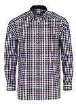 OLYMP Luxor Comfort fit Hemd Langarm Button Down Kragen Karo schwarz Größe 43