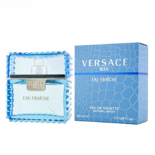 Versace Man Eau Fraiche 50 ml Eau de Toilette pour Hommes Spray