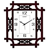 #6: SONIC SQUARE BROWN ANALOG WALL CLOCK
