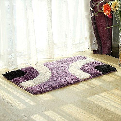 Hepix Geometrische Shag Bereich Teppich für Schlafzimmer, Sofa, Stuhl Pet-18von 66cm, Polyester-Mischgewebe, violett, 18 by 26 inch -