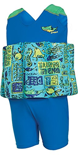 Bañador con flotador para aprender a nadar para niños, mar profundo, de la marca Zoggs Zoggs