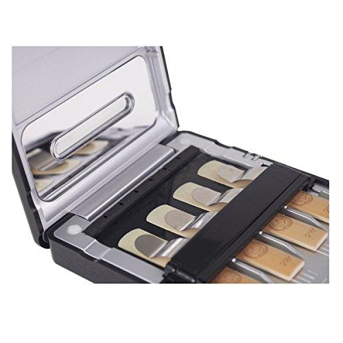IRIVER BLANK Sassofono Reed case,porta ance per sassofono, interno per clarinetto/sassofono custodia per 4 canne, Multi-Instrument Elettronico Sterilizzatore Caso Con La Luce UV per Clarinetti Ance