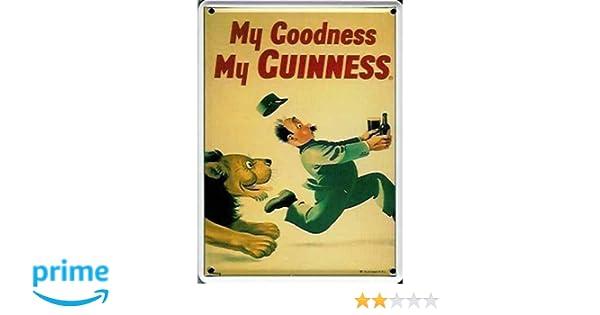 BBV Guinness Lion Plaque en m/étal 30 x 40 cm de Terre Brasserie bi/ère bierwerbung Plaque publicitaire r/étro