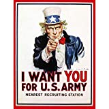 UNCLE SAM I WANT YOU ICONIC USA VINTAGE POSTER ART PRINT