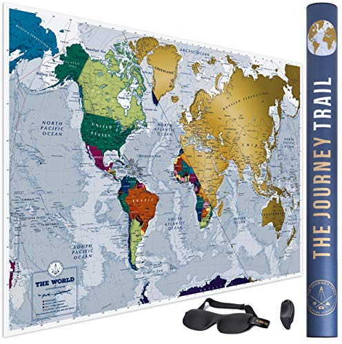 Mapa Mundi Rascar más grande 84x59cm más