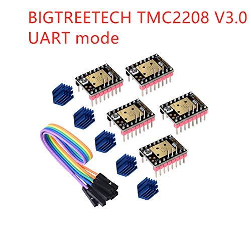 3Dman TMC2208 V3.0 (UART) nuevo motor paso a paso silencioso mejorado para MKS GEN/GEN L/SKR/Ramps 1.4 Panel de control para piezas de impresora 3D (5 unidades)