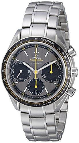 Omega con cinturino e cassa in acciaio da uomo automatico grigio quadrante orologio analogico 326.30.40.50.06.001