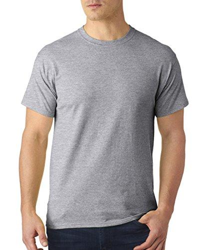Hanes uomo S/S x-temp maglietta a maniche corte Medium,1 Deep Red / 1 Light Steel