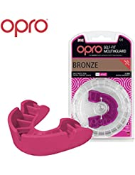 OPRO Adult Bronze Level Mouthguard for Ball, Stick and Combat Sports - 18 Month Dental Warranty