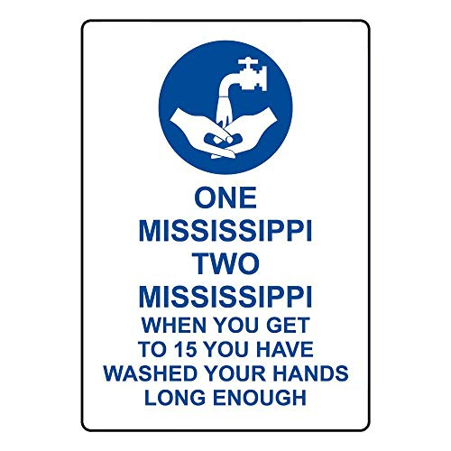 Mississippi Street Sign (mefoll Wall Decor Notice Sign 12x16 One Mississippi Two Mississippi Sign Safety Sign Caution Sign for Street Road Outdoor Indoor by)