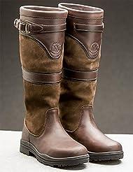 Mountain Horse Devonshire–Botas de Piel impermeable para mujer, color marrón oscuro, 39