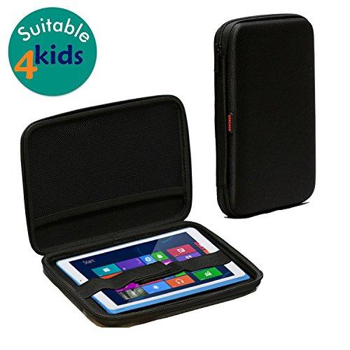 Navitech schwarz harte Schutzhülle für das Kurio 8,9 Zoll Smart 9 Windows Kinder Tablette (Das Kurio Phone Für Kids)