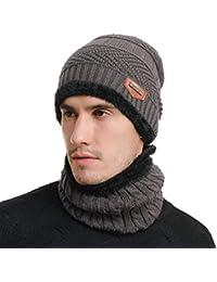 Kuyou - Set de bufanda, gorro y guantes - para hombre