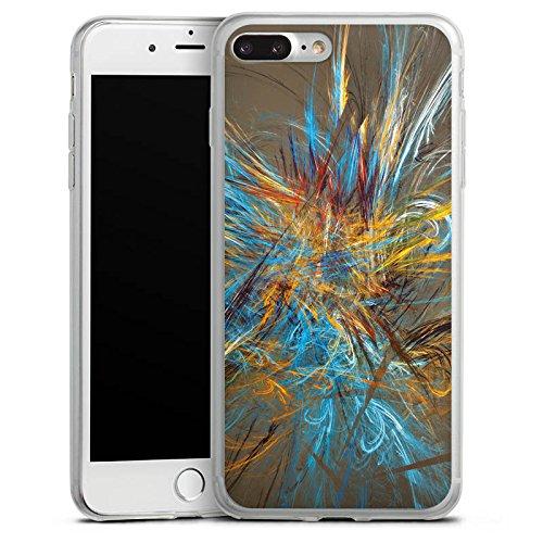 Apple iPhone X Slim Case Silikon Hülle Schutzhülle Muster Abstrakt Vogelfeder Silikon Slim Case transparent