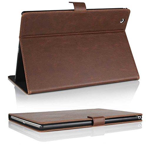 Cowhide Tablet Cuba Hülle für Sony Xperia Z4 Tablet Tasche für - Case Cover Schutzhülle in Braun