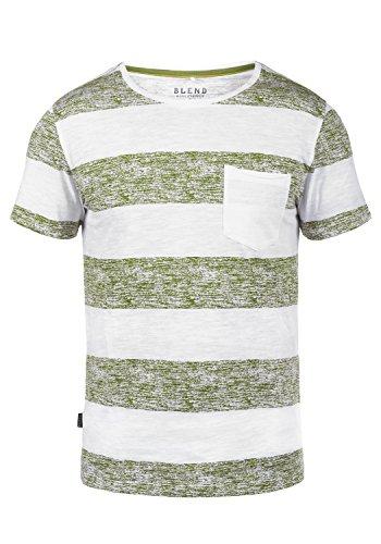 5a2d4e6d205b51 Blend Vegas Herren T-Shirt Kurzarm Shirt mit Rundhalsausschnitt und  Brusttasche Aus 100% Baumwolle