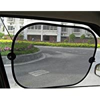 JYSPORT Car Window Sunshades - Universal Baby Car Sun Screens Outback Shades to Protect Your Baby - Blocks UV Rays - Fit Full Size Cars (Net yarn)