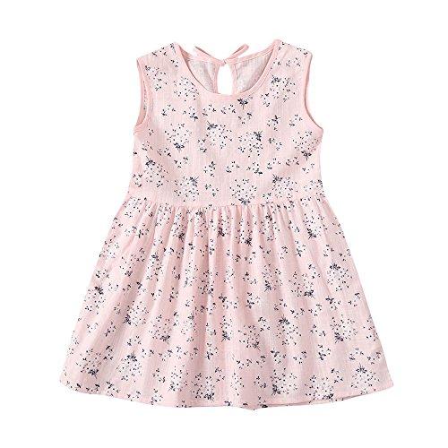 JUTOO Kleinkind Kinder Baby Mädchen Kleid Floral Print ärmellose Princess Dress Outfits...