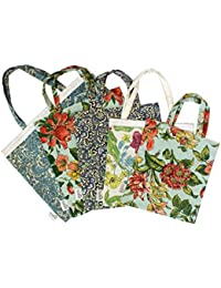 Star Homz Eco Friendly Utility Bag In Assorted Prints (Pack Of 5) (8x8 Inch) (SHUT001)
