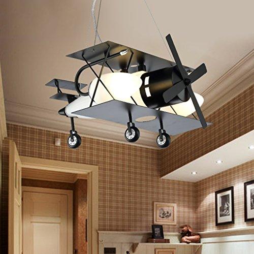 Guo Kinderzimmer-Lichter Jungen-Raum-Flugzeug-Lichter Kronleuchter-Pers5onlichkeit-kreative Eisen-Lampen E14 Lampen-Hafen - 2