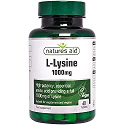 Natures Aid 1000mg L Lysine Tablets - Pack of 60 Tablets