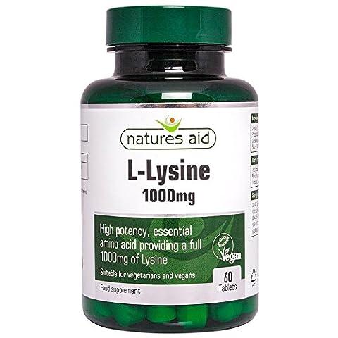 Natures aide L-lysine 1000 mg, 60 comprimés