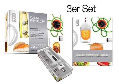 Deluxe Koch Set (Molecule-R 3in1 Deluxe Set: Cuisine Einsteigerset (Basisset) + Kulinarische Spritze + Kochbuch. Perfektes Geschenkset zum Experimentieren in der Molukularküche)