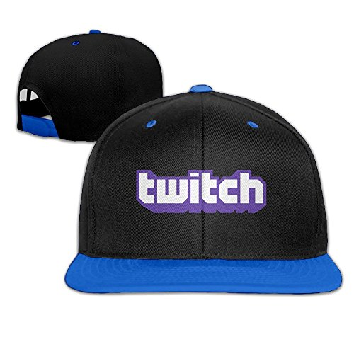 Hittings Twitch Logo Adjustable Snapback Hip-hop Cap Baseball Hats Royalblue par  Hittings
