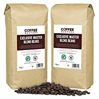 Coffee Masters Exclusive Master Blend of 100% Arabica Espresso Coffee Beans (4x1kg)