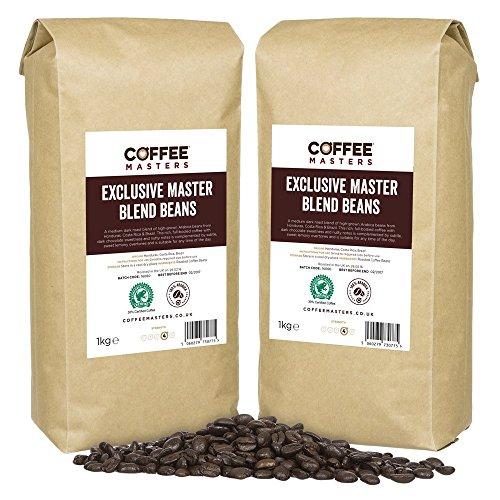 Coffee Masters Exklusive Master Mischung aus 100% Arabica Espresso Kaffeebohnen (4x1kg)