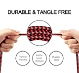 Lightning Cable Avoalre iPhone Charger Cable Nylon Braided Charging Cable Lead 2Pack 2m Apple Wire for iPhone X 8 8 Plus 7 7 Plus 6 6s 6 Plus 6s Plus 5 5S 5C SE, iPad Pro Air, iPad Mini 2 3 4 iPod (Black&Red)