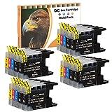 D&C 20er Set (B/C/M/Y) Druckerpatronen Tintenpatronen Ersetzt für Brother LC1220 LC1240 XL für Brother DCP-J525W, MFC-J430W,MFC-J5910DW,MFC-J625DW,MFC-J6510W,MFC-J6710DW,MFC-J6910DW mit Chip