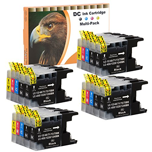 D&C 20er Set (B/C/M/Y) Druckerpatronen Tintenpatronen geeignet für Brother LC1220 LC1240 XL für Brother DCP-J525W, MFC-J430W,MFC-J5910DW,MFC-J625DW,MFC-J6510W,MFC-J6710DW,MFC-J6910DW mit Chip