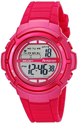 Armitron Sport Women's 45/7045MAG Digital Magenta Resin Strap Watch