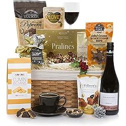 Cesta de Navidad de Lujo Cascabeles - Cestas de comida y vino - Ideas de cestas de regalo de Navidad