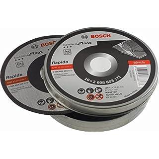 BOSCH Trennscheibe gerade Standard für Inox - Rapido WA 60 T BF, 125 mm, 10-er Pack, 2608603255