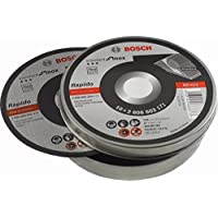 Bosch 2 608 603 255 - Disco de corte recto Standard for Inox - Rapido - WA 60 T BF, 125 mm, 22,23 mm, 1,0 mm (pack de 10)
