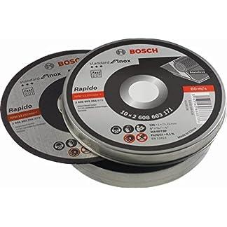 Bosch 2 608 603 255 – Disco de corte recto Standard for Inox – Rapido – WA 60 T BF, 125 mm, 22,23 mm, 1,0 mm (pack de 10)
