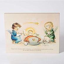 Angelitos con niño Jesús y oración