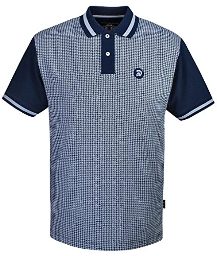 trojan-records-clothing-polo-homme-navy-sky-blue-xxx-large-taille-unique