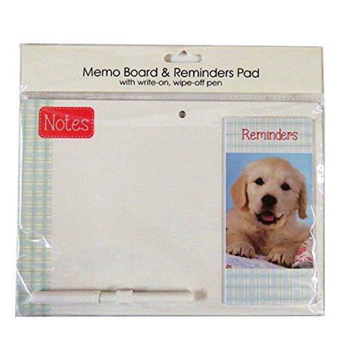 Lavagna magnetica con messaggio promemoria Pad e penna-Cucciolo-Taglia 264mm x 185mm