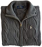 Ralph Lauren Polo Damen Pullover Gr.XS, Pony Logo, Grey, Strickjacke