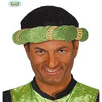 roi noir et vert pour le déguisement Turban magus indien Maharaja