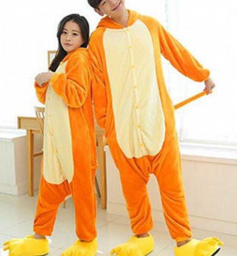 Unisex Adult Pyjamas - Plüsch One Piece Cosplay Tier Kostüm Winter Verdickung Freizeitbekleidung,Affe,M (Plüsch Affe Kostüme)