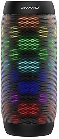 AMAYO S1 LED Bluetooth Lautsprecher Tragbarer-Lautsprecher USB Wireless Stereo NFC Smartphone iPhone XIDO Micro Soundsystem AUX Kabellos